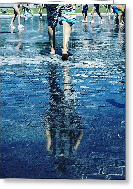 Walking On The Water Greeting Card