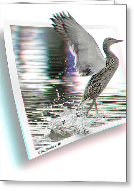 Oof Greeting Cards - Walking On Water - Use Red-Cyan 3D glasses Greeting Card by Brian Wallace