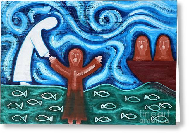 Walking On Water 2 Greeting Card by Patrick J Murphy