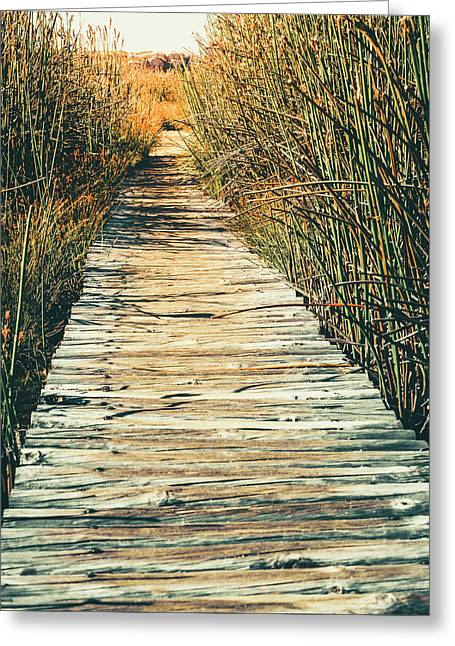 Greeting Card featuring the photograph Walking Path by Alexey Stiop
