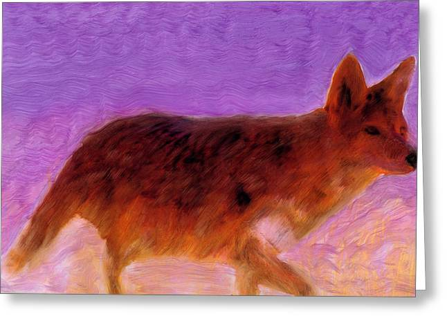 Greeting Card featuring the painting Walking Strong by FeatherStone Studio Julie A Miller