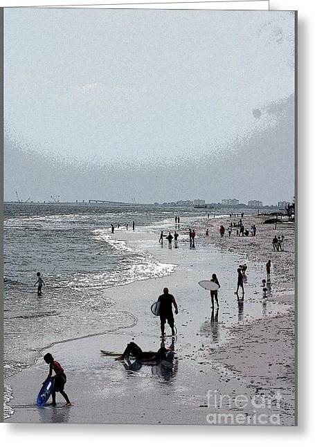 Seaside Decor Posters Greeting Cards - Walking The Beach Greeting Card by Kathleen Struckle
