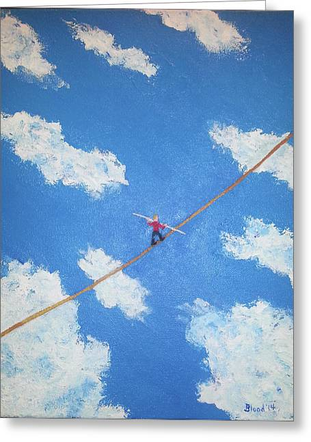 Walking The Line Greeting Card