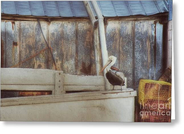 Greeting Card featuring the photograph Walking The Plank by Benanne Stiens