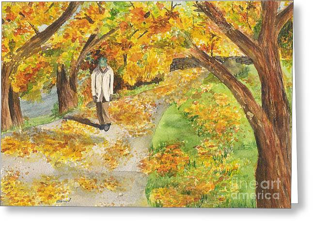 Walking The Truckee River Greeting Card