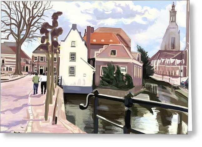 Walking Through Amersfoort Greeting Card