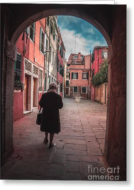 Walking Through Time - Venice, Italy Greeting Card