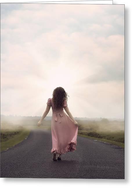 Walking Towards The Sun Greeting Card by Joana Kruse