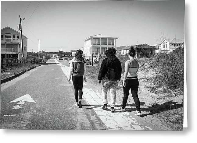 Walking With Friends Greeting Card by Carolyn Ricks