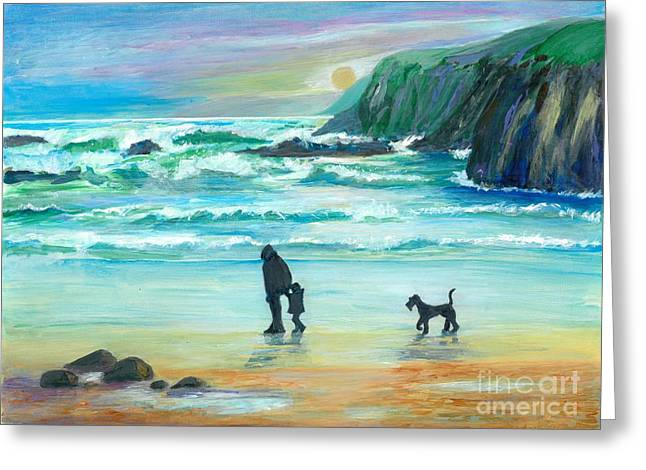 Walking With Grandpa - Painting Greeting Card