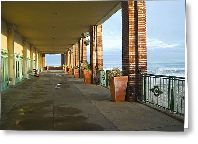 Walkway Convention Hall Greeting Card by Andrew Kazmierski