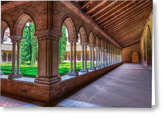 Walkway Insde Eglise Des Jacobins Or Church Of The Jacobins Greeting Card