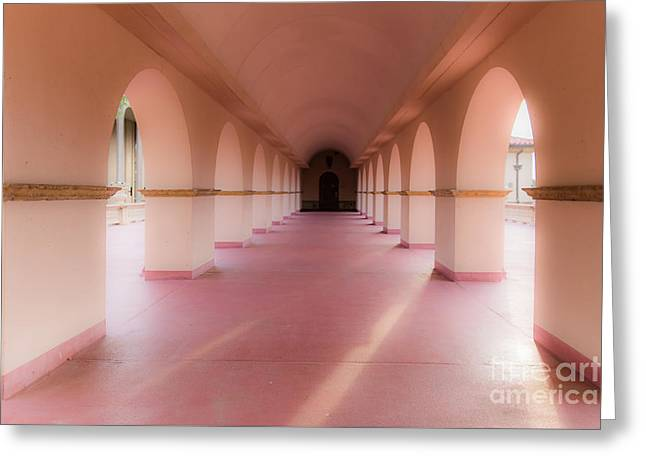 Walkway Greeting Card by Lynn Sprowl