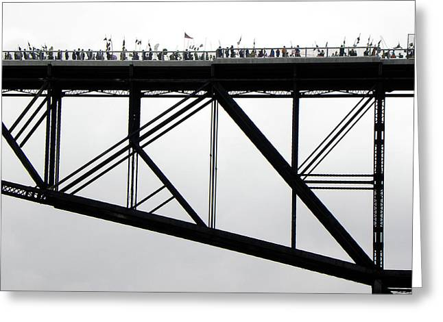 Walkway Over The Hudson No 11  Opening Day 2009 Greeting Card