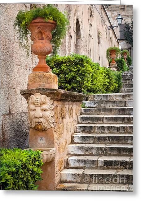 Walkway - Palma De Mallorca Greeting Card by Brian Jannsen