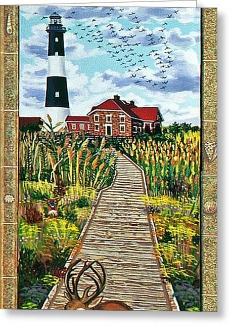 Walkway To Fire Island Lighthouse Greeting Card