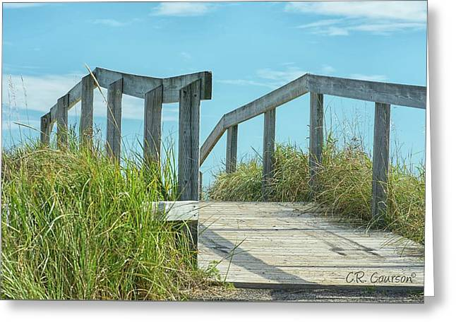 Walkway To The Beach Greeting Card by CR Courson