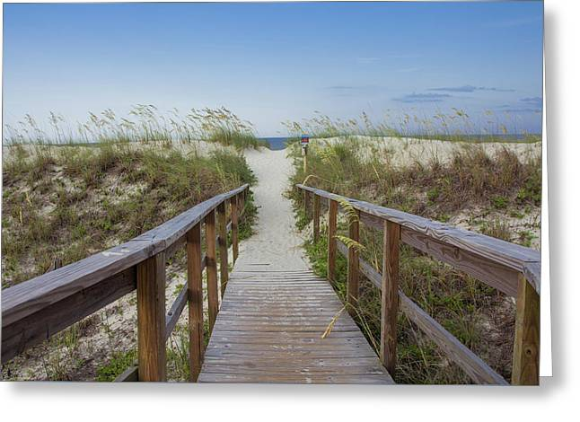 Walkway To The Beach Greeting Card by Zina Stromberg