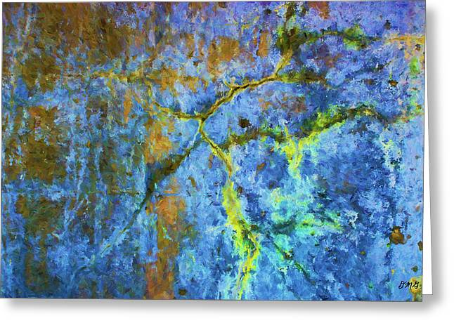 Wall Abstraction I Greeting Card by Dave Gordon