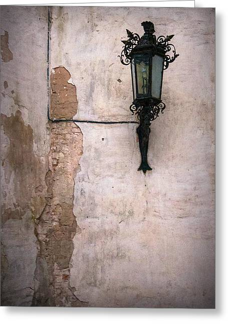 Wall And Lamp Greeting Card by Matt Create