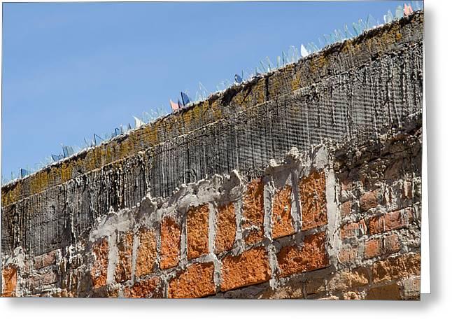 Wall Defenses. Greeting Card by Rob Huntley