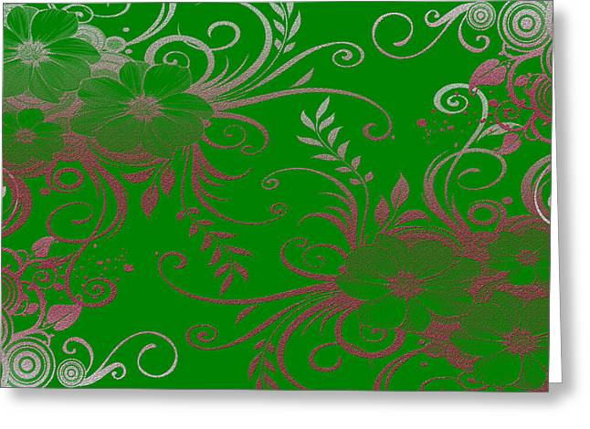 Wall Flower 2 Greeting Card by Evelyn Patrick
