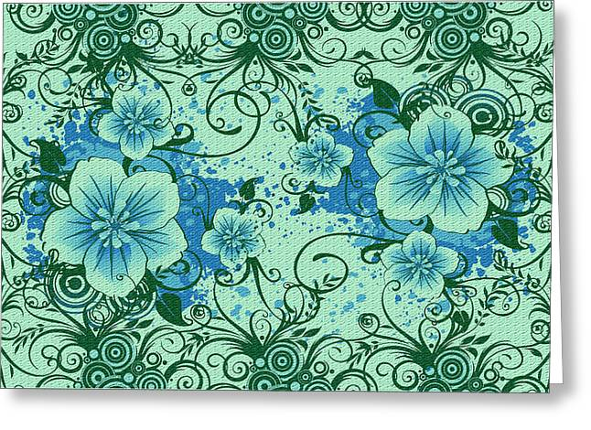 Wall Flower 8 Greeting Card by Evelyn Patrick