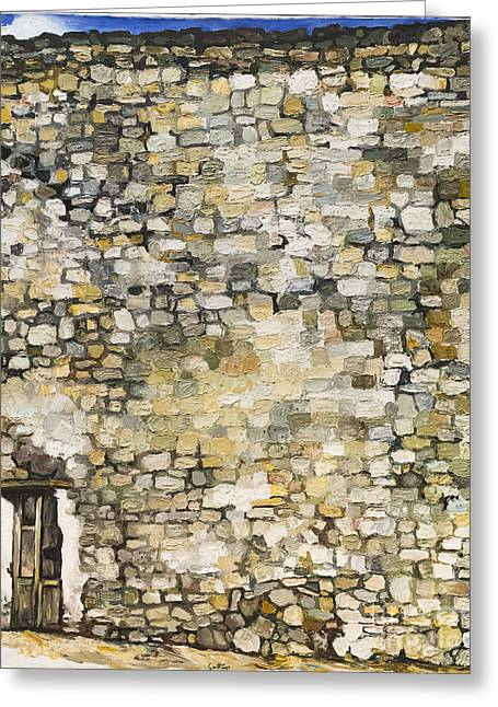 Wall In Erice By Renato Guttuso Greeting Card