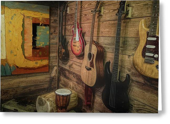 Wall Of Art And Sound Greeting Card