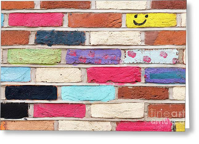 Wall Of Colours Greeting Card