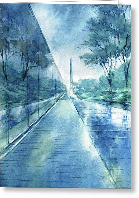 Wall Of Heroes No 2 Greeting Card by Virgil Carter