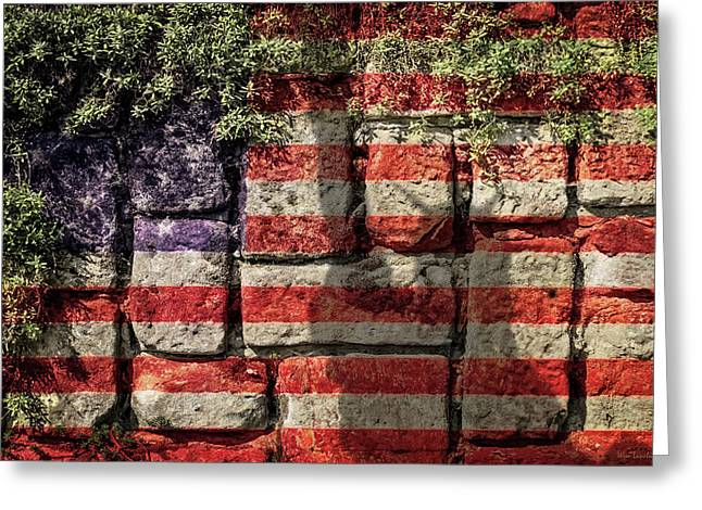 Wall Of Liberty Greeting Card by Wim Lanclus