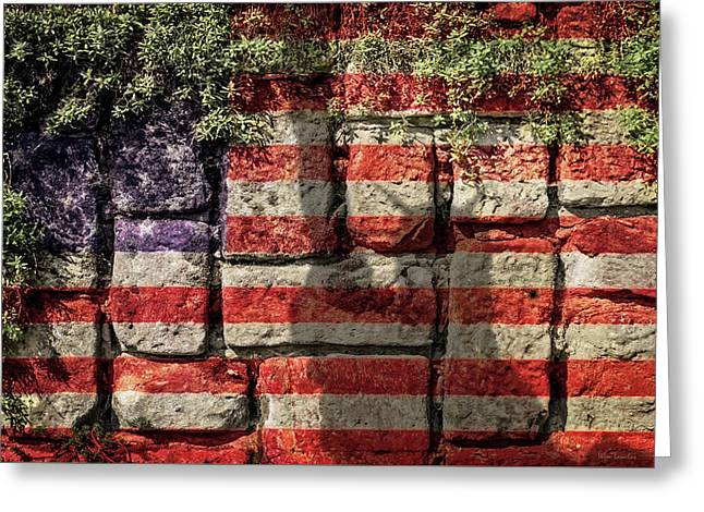Wall Of Liberty Greeting Card