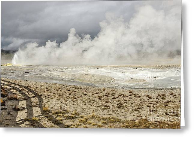 Greeting Card featuring the photograph Wall Of Steam by Sue Smith