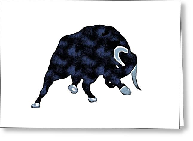Wall Street Bull Market Series 1 T-shirt Greeting Card by Edward Fielding