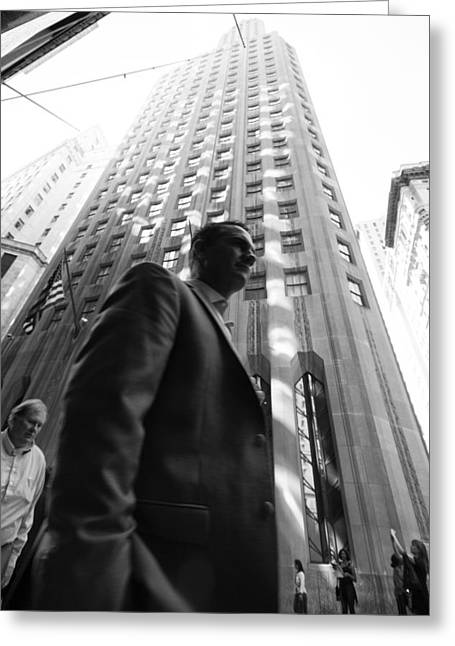 Greeting Card featuring the photograph Wall Street Man II by Dave Beckerman