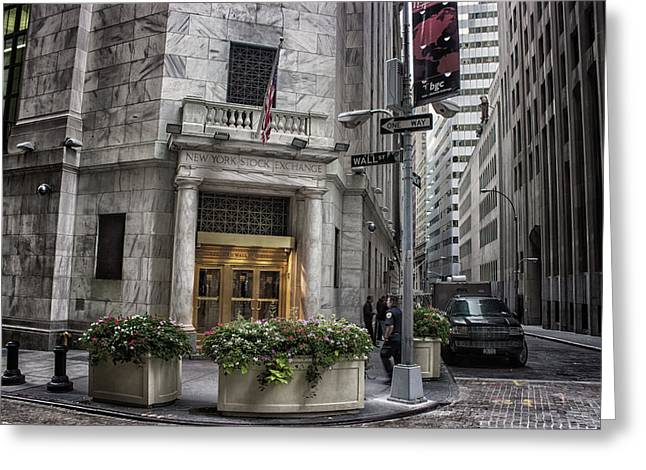 Wall Street Greeting Card by Martin Newman