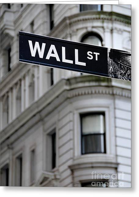 Wall Street New York City Financial District Greeting Card