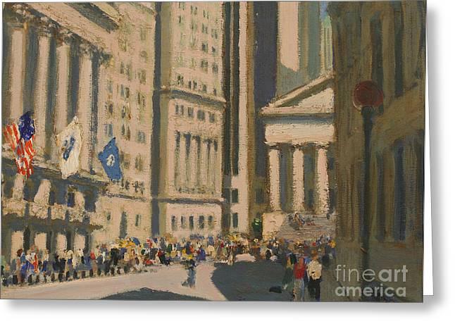 Wall Street Greeting Card by Vladimir Kozma
