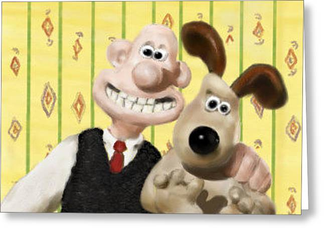 Wallace And Gromit Greeting Card