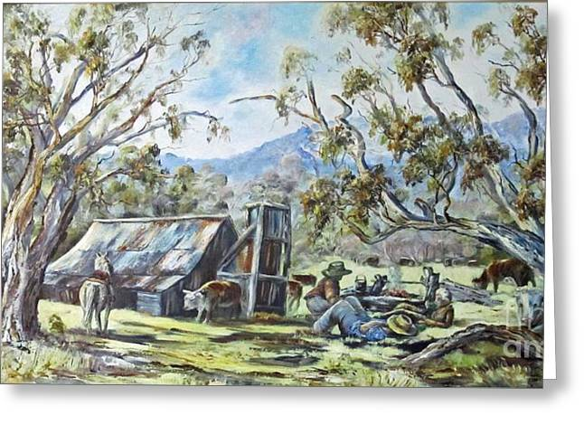 Wallace Hut, Australia's Alpine National Park. Greeting Card