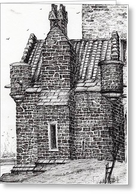 Wallace Monument  The Small House Greeting Card by Vincent Alexander Booth