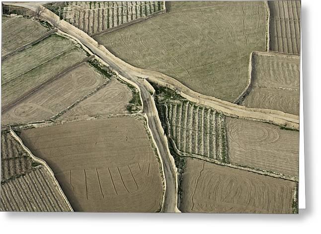 Walled Fields Near Bagram Greeting Card by Tim Grams