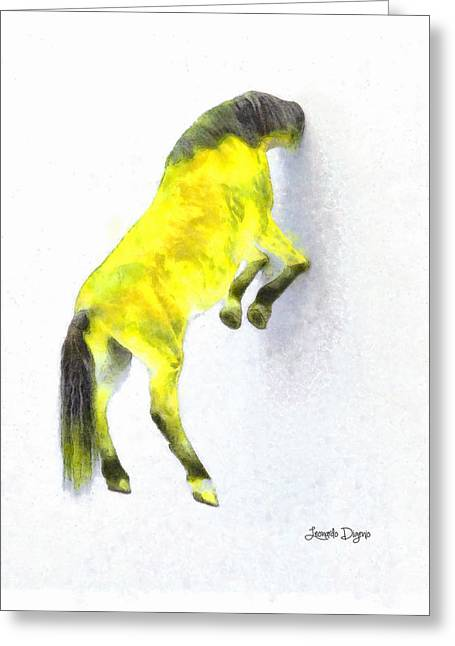 Walled Yellow Horse - Pa Greeting Card