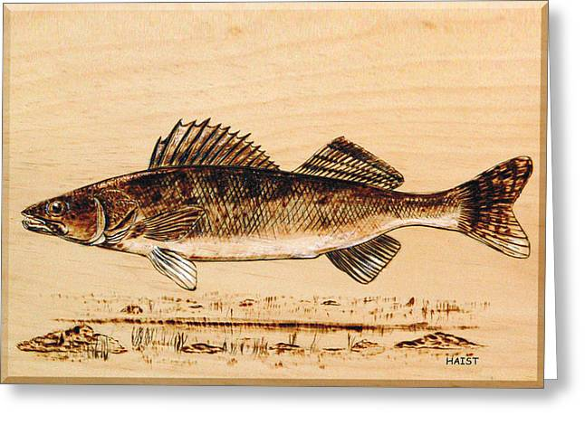Walleye Greeting Card by Ron Haist