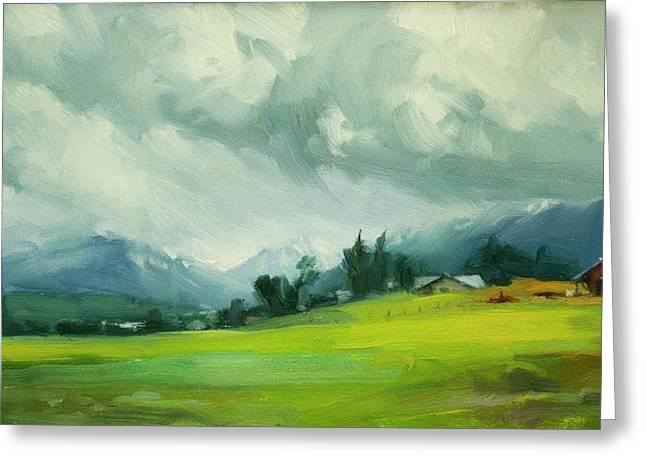 Wallowa Valley Storm Greeting Card