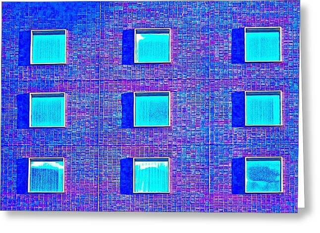 Walls Of Windows Greeting Card by Gillis Cone