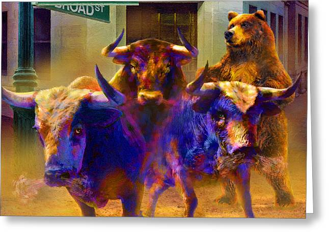 Wall Street Il Greeting Card by Doug Kreuger