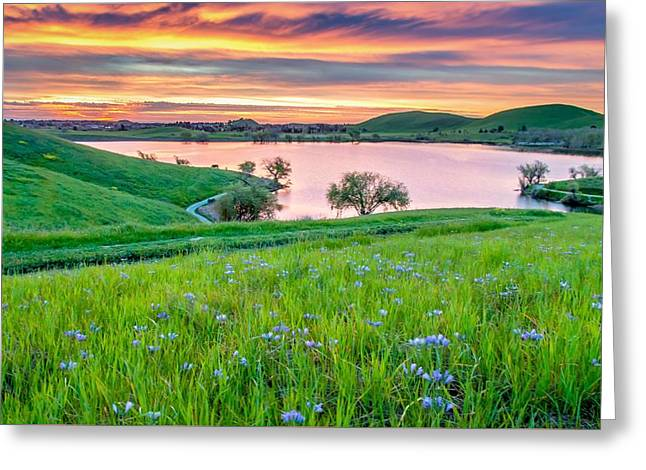 Greeting Card featuring the photograph Wally Baskets Above Contra Loma  by Marc Crumpler