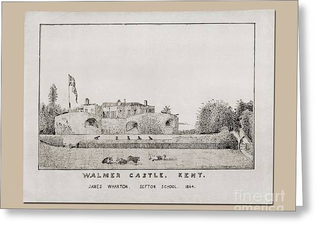 Walmer Castle Kent Greeting Card